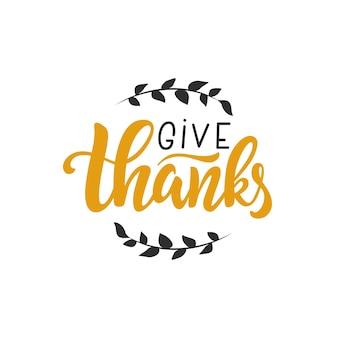 Ringraziare citazione scritta a mano modello di biglietto di auguri per il giorno del ringraziamento