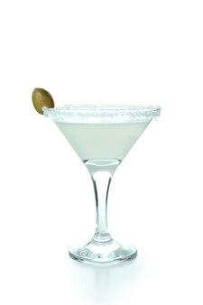 Bicchiere di cocktail martini isolato su sfondo bianco