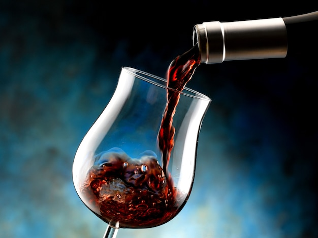 Bicchiere di vino rosso doc