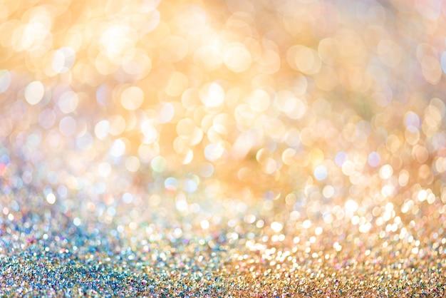 Glitter oro bokeh colorfull sfocato sfondo astratto per anniversario