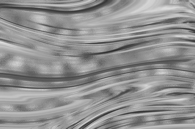 Fondo del modello dell'inchiostro acrilico liquido ondulato della lamina d'oro glitter Foto Premium