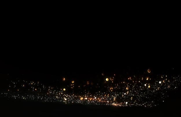 Sfondo di luci vintage glitter. sfocato