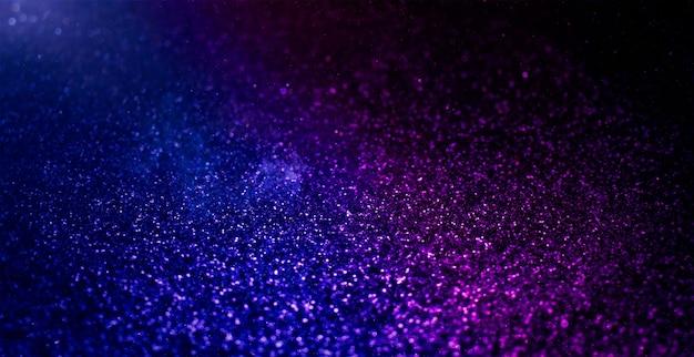 Sfondo di luci vintage glitter con luci sfocati. fondo del bokeh di festa del nuovo anno e di natale con copyspace.