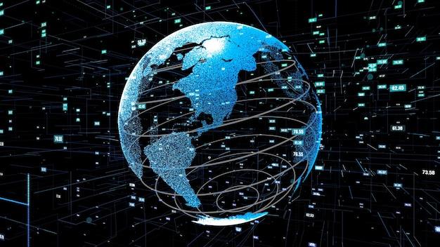 Tecnologia globale di data science e abstract di programmazione informatica