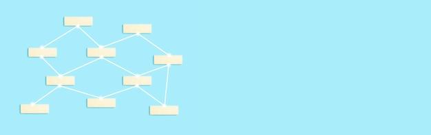Rete globale e concetto di comunicazione sfondo blocchi vuoti per etichette oggetti in rete o uso...