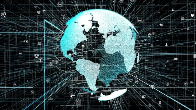 Connessione di rete internet online globale