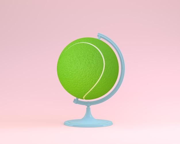 Globo sfera globo concetto di palla da tennis