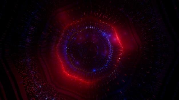 Incandescente particelle sott'acqua 4neon bolle sfondo 3d