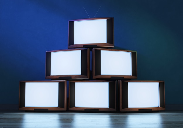 Vecchi ricevitori tv d'ardore, 3d