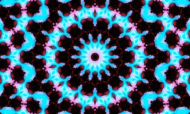 Anelli luminosi in sfondo al neon. cerchi viola a forma di modello di tunnel in onde blu scuro. luci notturne della città e feste synthwave. vaporwave luminoso anni '80 con luci laser digitali