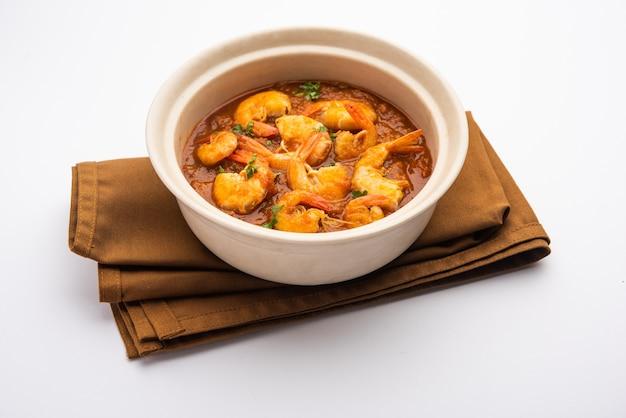 Gamberetti di goa o curry di gamberetti o zinga masala noto anche come kolambiã'â kalwanã'â o tikhle