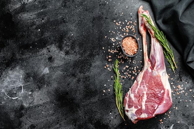 Coscia di capra con pepe e aglio