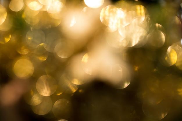 Bokeh dell'oro in celebrità di natale