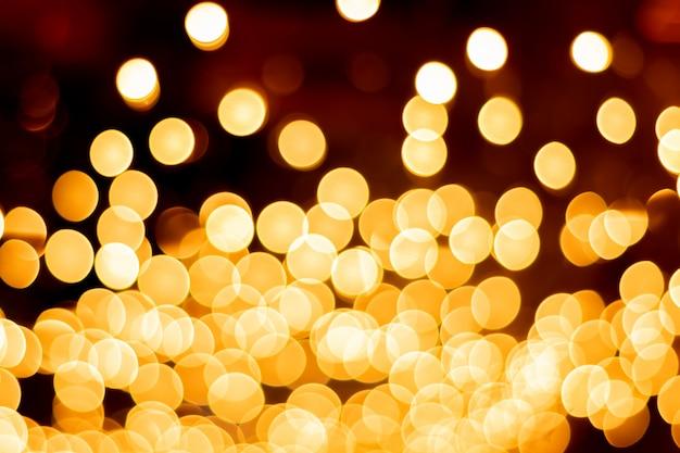 Trame e riflessi del bokeh dell'oro