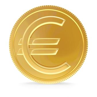 Moneta d'oro con il segno dell'euro