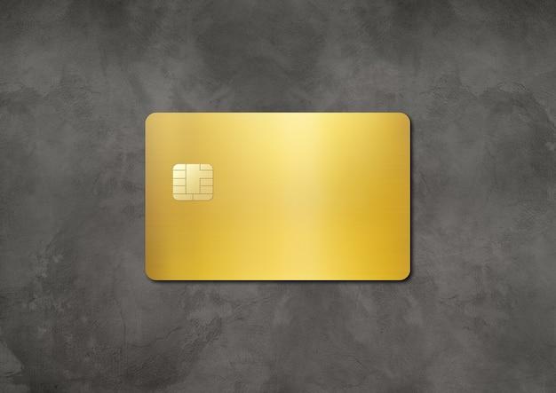Modello di carta di credito oro su uno sfondo concreto d illustrazione