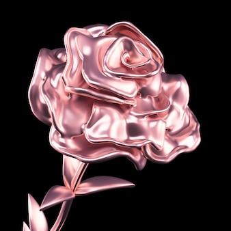 Carta ed erba del fiore dell'oro. rendering 3d.