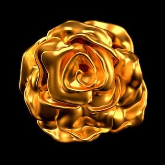 Carta ed erba del fiore dell'oro.