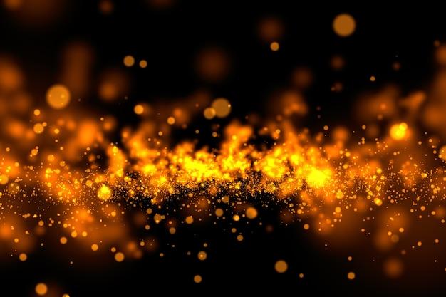 Sfondo di polvere d'oro glitter splash.
