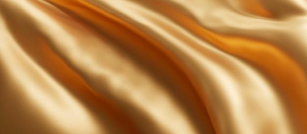 Rendering 3d di sfondo oro tessuto di lusso