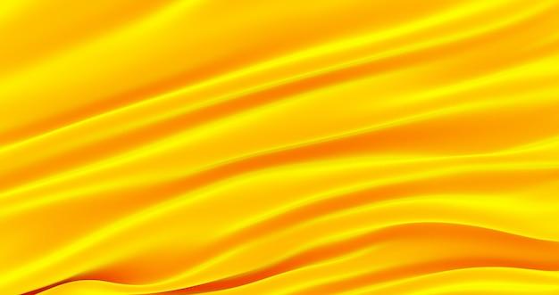 Trama di sfondo del tessuto di lusso dell'oro, tessuto in tessuto di seta satinata d'oro