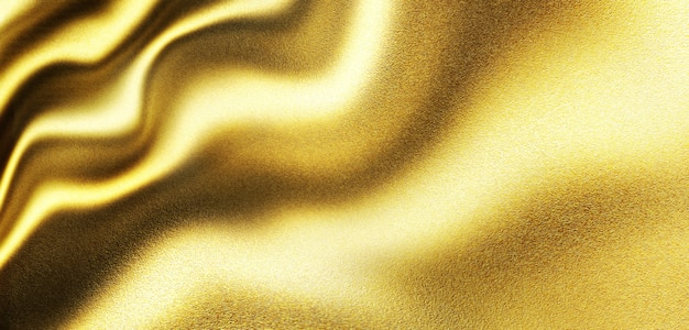 Fondo di lusso di struttura dell'onda del metallo dell'oro