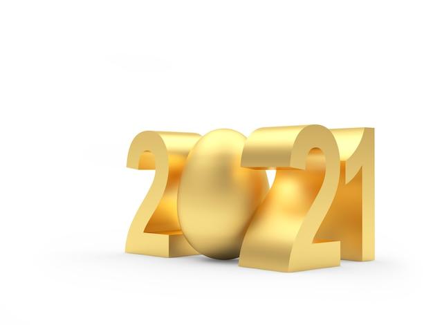Numero gold 2021 con uovo di pasqua