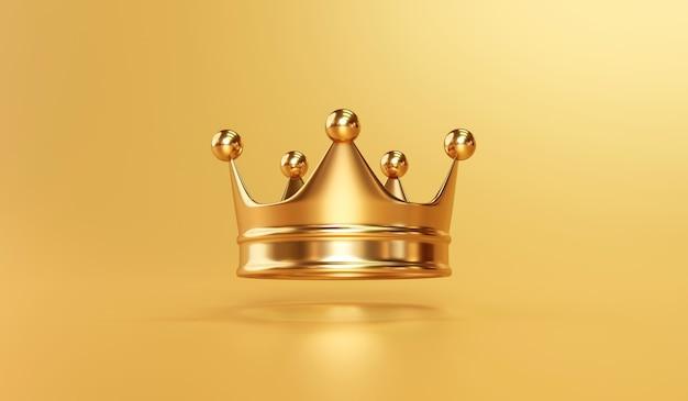Corona reale del re d'oro su oro