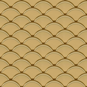 L'oro scala il modello senza cuciture geometrico 3d render