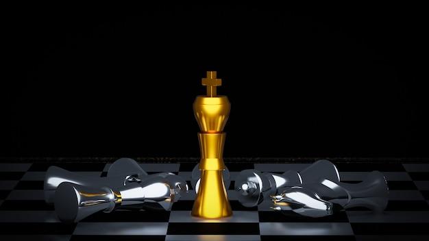 Battaglia di scacchi d'oro e d'argento