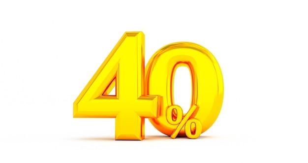 Sconto dorato del 40% di sconto