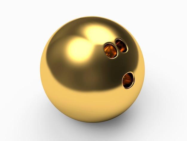 Palla da bowling dorata