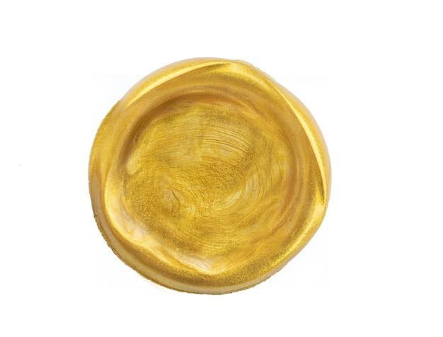 Struttura del cerchio dorato isolato su bianco