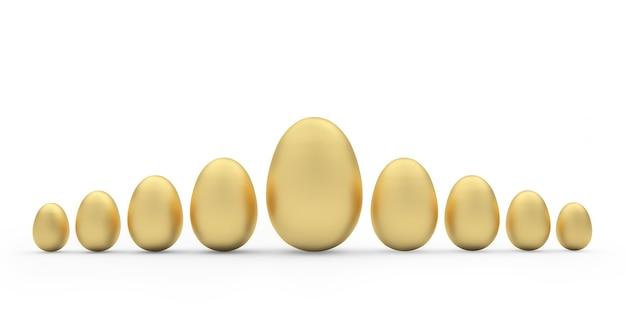 Uova d'oro di varie dimensioni
