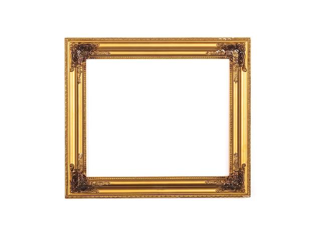 Cornice dorata elegante vintage rococò barocco percorsi di ritaglio inclusi