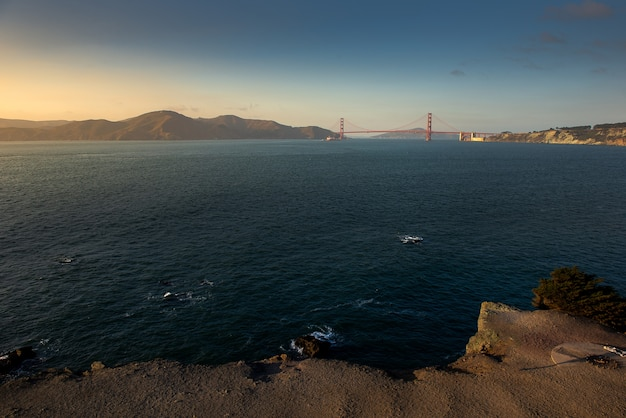 Golden gate bridge nel bel momento