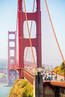 Golden gate bridge tiburon usa