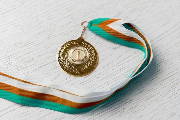 Medaglia d'oro per il premio del primo posto, successo al concetto di competizione