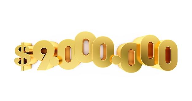 Nove milioni (9000000) dollari d'oro. 9 milioni di dollari, 9 milioni di $