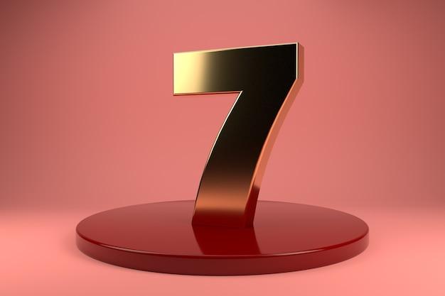 Numero d'oro 7 in tribuna