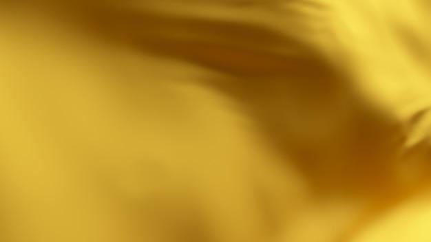 Superficie in tessuto ondulato di seta dorata. sfondo morbido astratto.