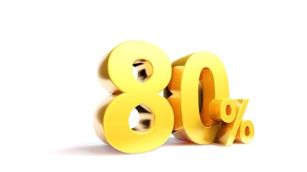 Simbolo dorato delle vendite in 3d