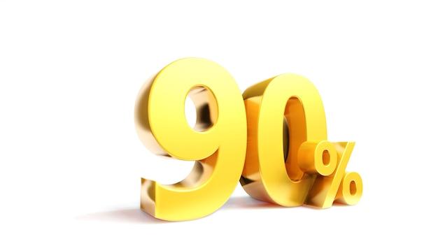 Simbolo dorato delle vendite n tre dimensioni rendono