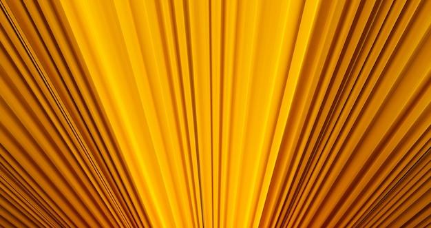 Priorità bassa di struttura del tessuto giallo dorato, rendering 3d