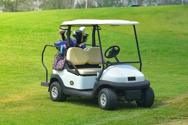 Carrelli da golf su un campo da golf
