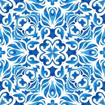 Sfondo trama splendida. kafel portoghese da parete in stile classico. piastrelle di ceramica con pittura ad acquerello