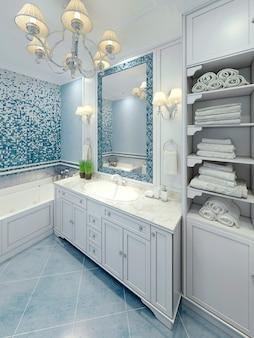 Grazioso design art déco del bagno.