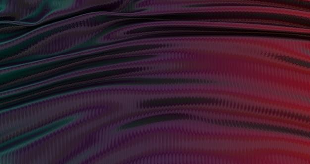Sfondo sfumato blu viola e giallo in tessuto di seta, sfondo liscio di lusso, raso di seta ondulato, astratto, rendering 3d