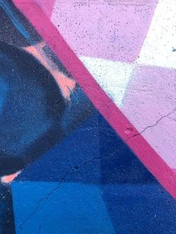 Sfondo graffiti arte di strada astratta linee colorate e luminose di disegno sul muro