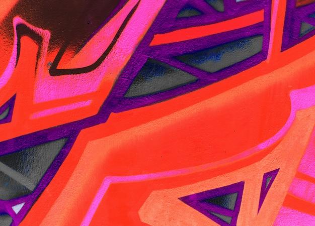 Struttura o fondo della carta da parati del dettaglio dei graffiti